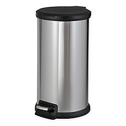 SALT™ Stainless Steel Round 40-Liter Step Trash Can