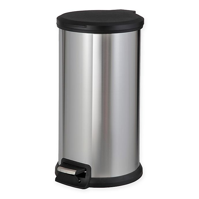 Alternate image 1 for SALT™ Stainless Steel Round 40-Liter Step Trash Can