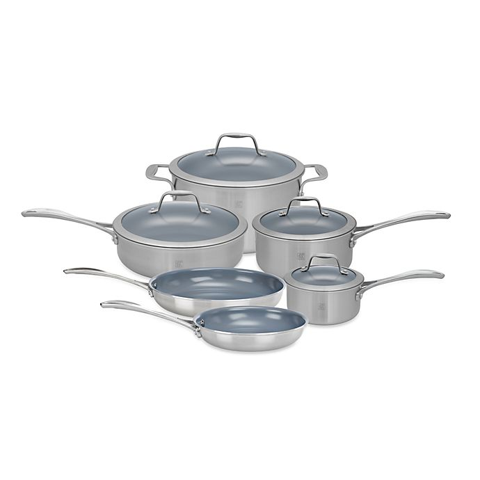 Alternate image 1 for Zwilling J.A. Henckels Spirit 10-Piece Ceramic Coated Nonstick Cookware Set