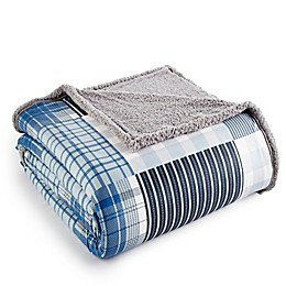 Micro Flannel® Reversible Sherpa Plaid Blanket