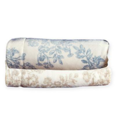 Home Fashion Designs Reversible Toile King Blanket Bed Bath Beyond