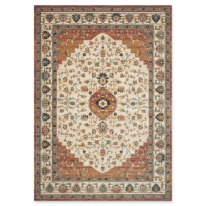 Alternate image 1 for Magnolia Home by Joanna Gaines Evie 9'2 x 13' Area Rug in Ivory/Terracotta