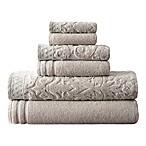 6-Piece Damask IV Towel Set in Grey