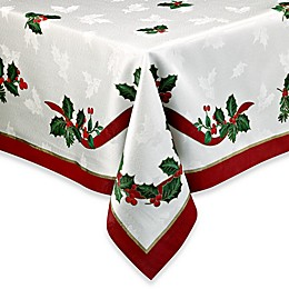 Holiday Ribbon Damask Tablecloth