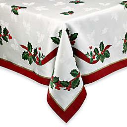 Holiday Ribbon Damask Tablecloth