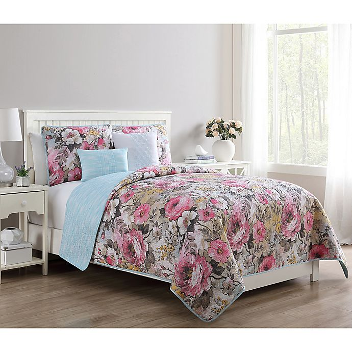 Alternate image 1 for VCNY Home Lucia Reversible Quilt Set