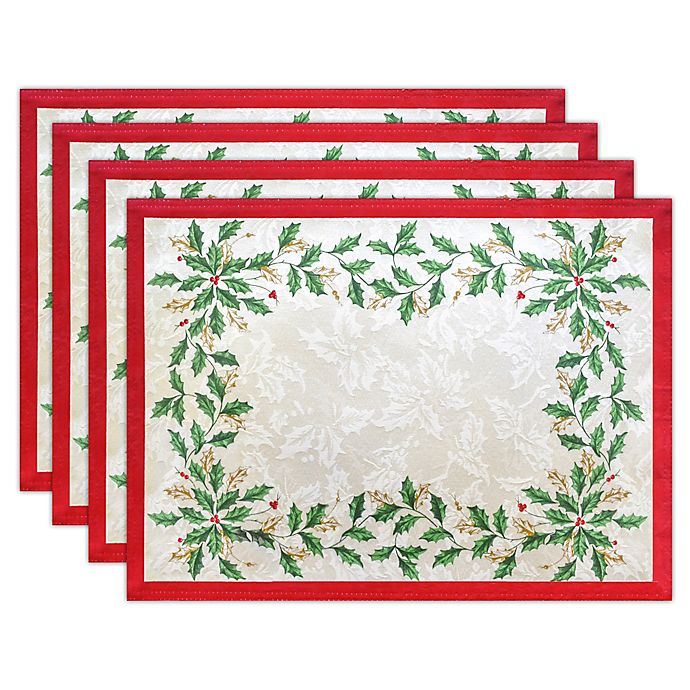 Alternate image 1 for Lenox® Holiday Holly Placemat in Ivory