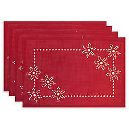 Bardwil Linens Snowflake Impressions Table Linen Collection