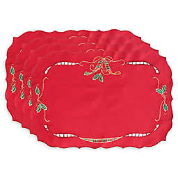 Lenox® Holiday Nouveau Cutwork Placemats in Red (Set of 4)