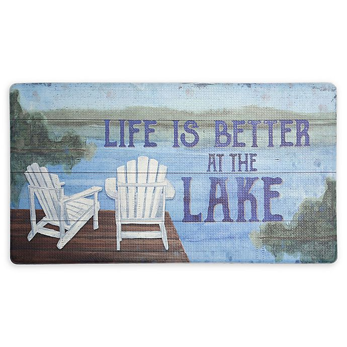 Home Dynamix 174 Cook N Comfort Life At The Lake Kitchen Mat