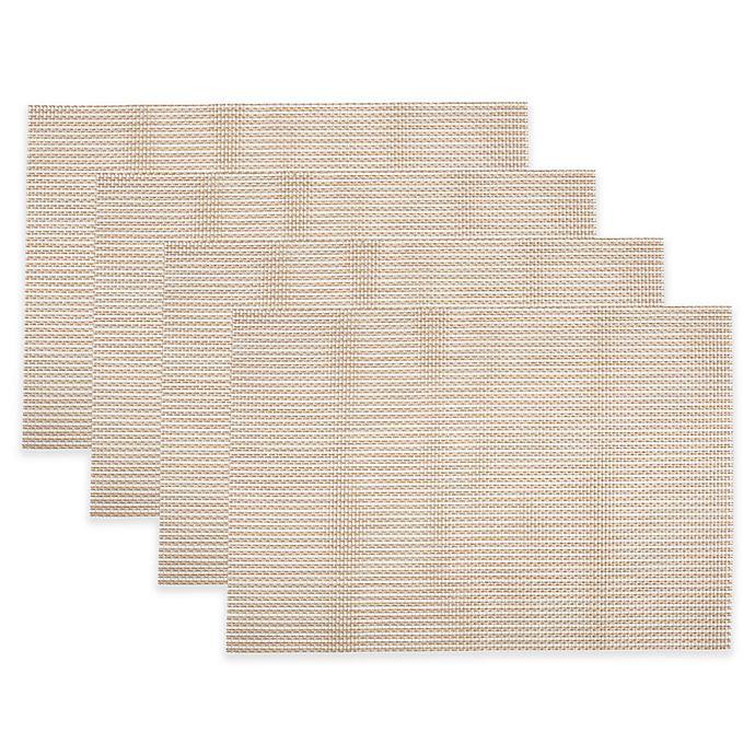 Alternate image 1 for KAF Home Fete Moderne Grid Placemats in Golden (Set of 4)