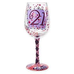 Lolita 21st Birthday Stemmed Wine Glass