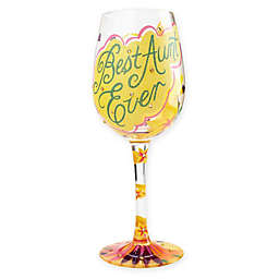 "Lolita ""Best Aunt Ever"" Stemmed Wine Glass"