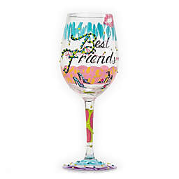 "Lolita ""Best Friends Always"" Stemmed Wine Glass"