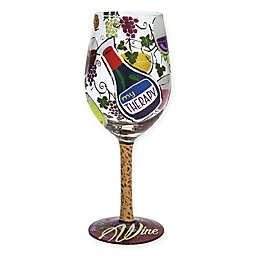 "Lolita ""My Therapy"" Stemmed Wine Glass"