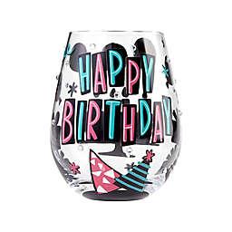 "Lolita ""Happy Birthday"" Stemless Wine Glass"
