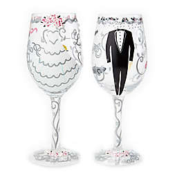Lolita Bride and Groom Wine Glasses (Set of 2)