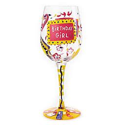 "Lolita ""Birthday Girl"" Stemmed Wine Glass"