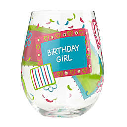 "Lolita ""Birthday Girl"" Stemless Wine Glass"