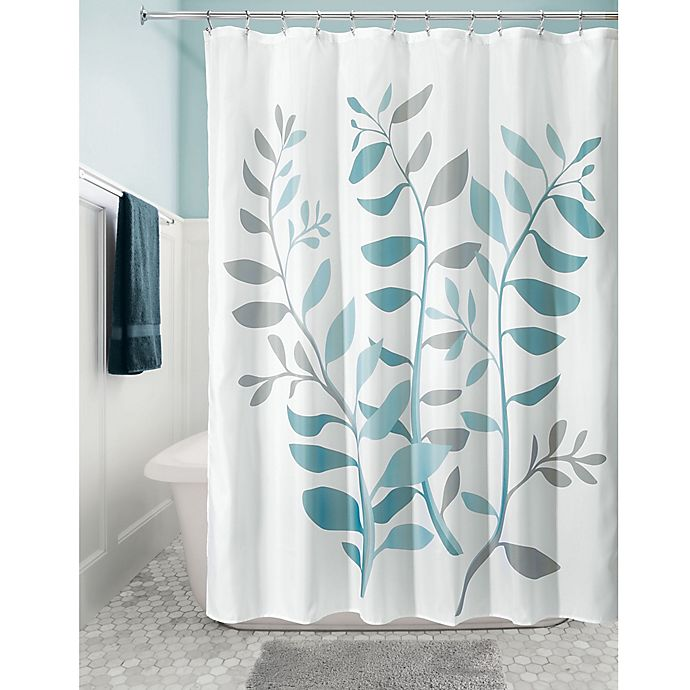 Alternate image 1 for iDesign® Laurel 72-Inch Fabric Shower Curtain