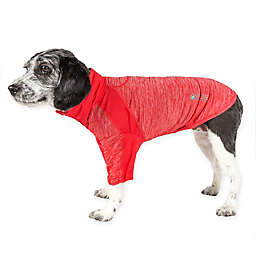 Pet Life® Chewitt Wagassy Extra-Small Triple-Toned Long Sleeve Performance Dog T-Shirt in Red