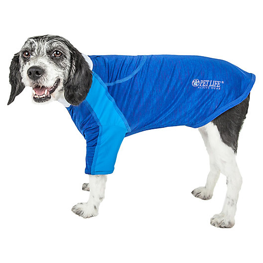 Alternate image 1 for Pet Life® Chewitt Wagassy Triple-Toned Long Sleeve Performance Dog T-Shirt