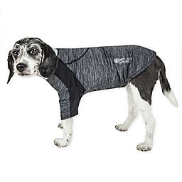 Pet Life® Chewitt Wagassy Medium Triple-Toned Long Sleeve Performance Dog T-Shirt in Black