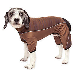 Pet Life® Active Chase-Pacer Heathered Medium Performance Dog Tracksuit in Brown