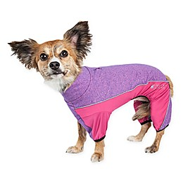Pet Life® Active Chase-Pacer Heathered Performance Dog Tracksuit