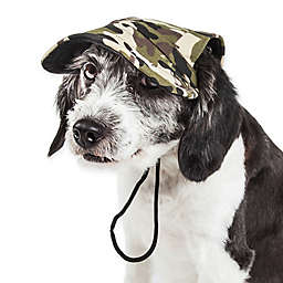Pet Life® Torrential Downfour Camouflage Dog Cap in Green