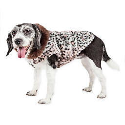 Pet Life® Luxe Furracious Faux Cheetah Patterned Mink Fur Dog Coat in Pink