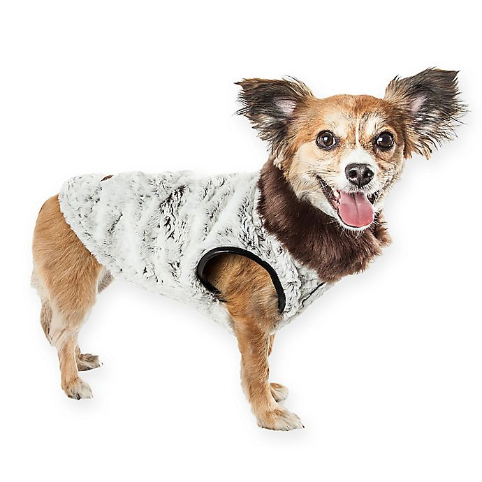 Alternate image 1 for Pet Life® Luxe Purrlage Dog Coat in Grey