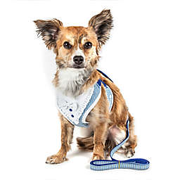 Pet Life® X-Small LUXE Spawling 2-in-1 Mesh Reversed Adjustable Dog Harness in Blue