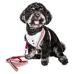 Pet Life® X-Small LUXE Spawling 2-in-1 Mesh Reversed Adjustable Dog Harness in Red