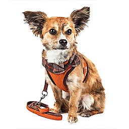 Pet Life® LUXE Pawsh 2-in-1 Mesh Adjustable Dog Harness in Orange