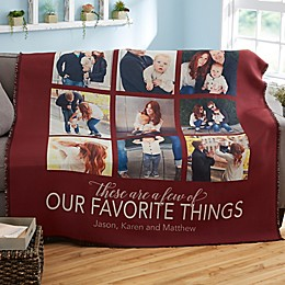 My Favorite Things Woven Throw Blanket