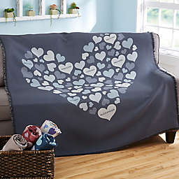 Heart of Hearts Woven Throw Blanket