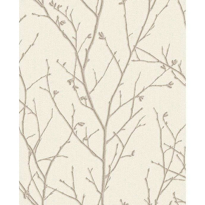 Alternate image 1 for Graham & Brown Water Silk Spring Ivory Wallpaper in Taupe