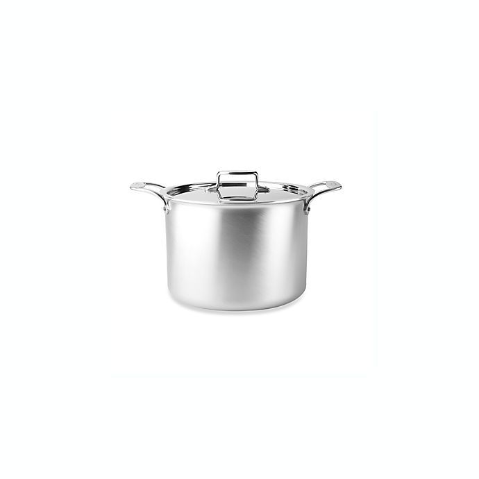 Alternate image 1 for All-Clad d5® 12 qt. Brushed Stainless Steel Covered Stock Pot