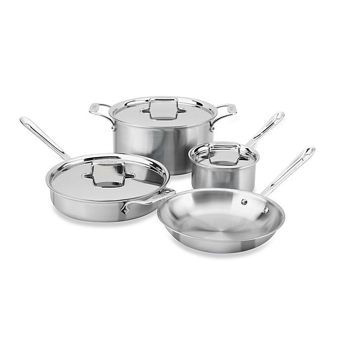 Alternate image 1 for All-Clad d5® Brushed Stainless Steel 7-Piece Cookware Set