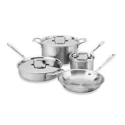 All-Clad d5® Brushed Stainless Steel 7-Piece Cookware Set