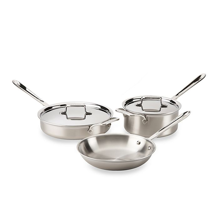 Alternate image 1 for All-Clad d5® Brushed Stainless Steel 5-Piece Cookware Set