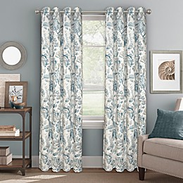 Bastille Floral Grommet 100% Blackout Window Curtain Panel