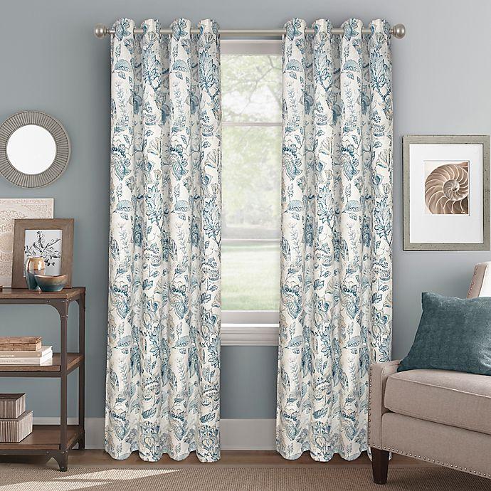 Alternate image 1 for Bastille Floral 63-Inch Grommet 100% Blackout Window Curtain Panel in Indigo