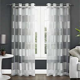Navaro  108-Inch Grommet Sheer Window Curtain in Winter White (Set of 2)