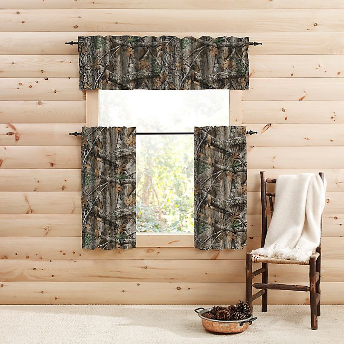Alternate image 1 for Realtree EDGE™ Camo Window Curtain Tier Pair and Valance