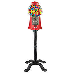 Vintage Candy Gumball Machine and Bank in Red