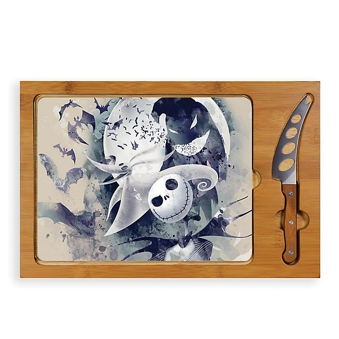 Alternate image 1 for Picnic Time® Nightmare Before Christmas Jack and Zero Icon Serving Tray and Knife Set