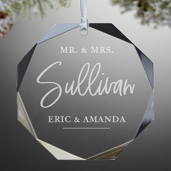 Alternate image 1 for Classic Elegance Wedding Premium Personalized Ornament