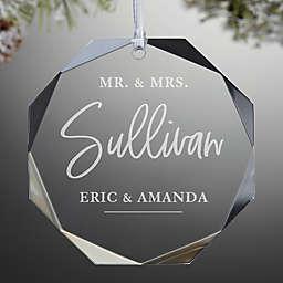 Classic Elegance Wedding Premium Personalized Ornament